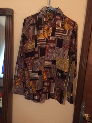 Men's 70's Van Husen Disco Long Sleeve Shirt for Sale in Springfield, MO