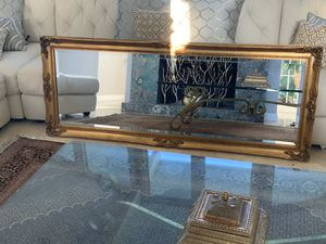 """66""""x26"""" beautiful mirror , this mirror is wood frame and over 60 years old and still is gorgeous for Sale in Laguna Niguel, CA"""