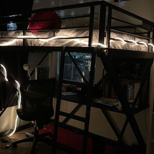 Full Bunk Bed Over A Full Sized Desk Excellent Condition for Sale in San Diego, CA
