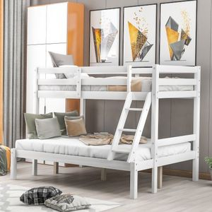 Twin over full bunk bed White for Sale in El Monte, CA
