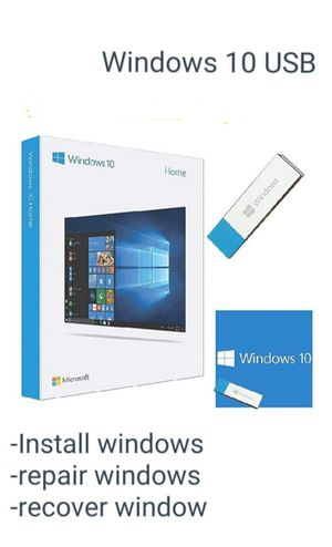 16GB Windows 10 PRO (&HOME) Installer'ed [USB] -RESTORE-RECOVERY- for Sale in Fontana, CA