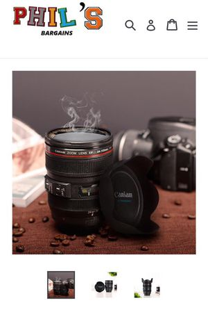 Camera lens inspired coffee cup for Sale in Philadelphia, PA