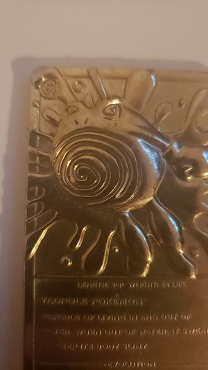 Gold PoliWhirl Card for Sale in Safety Harbor, FL