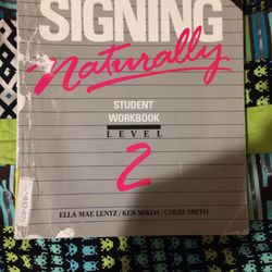 Signing Naturally Student Workbook Level 2 for Sale in Portland,  OR