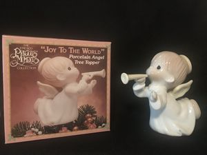 Precious Moments Joy to the World Porcelain Angel Tree Topper for Sale in Sylmar, CA