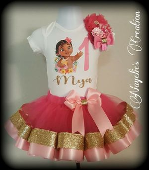 12 Month Moana tutu set for Sale in Virginia Beach, VA