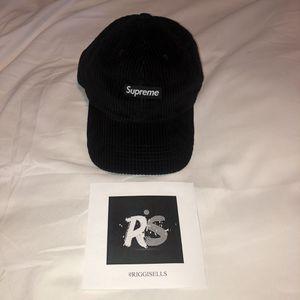 Supreme Ripple Corduroy Small Box 6-Panel Black for Sale in Marietta, GA