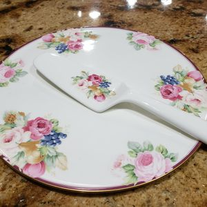 Vintage Mikasa China Rosemead Cake Serving Plate for Sale in Hialeah, FL