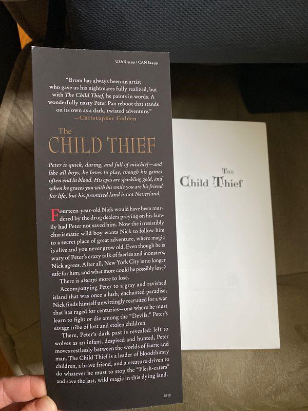 Fantasy-horror novel brand new Brom Child Thief