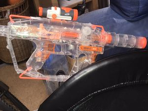 Preowned Evader Nerf Gun With mag and scope great shape! for Sale in Fort Myers, FL