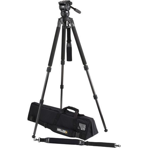 Miller 1870 Compass 12 Solo 75 Two-Stage Carbon Fiber Tripod