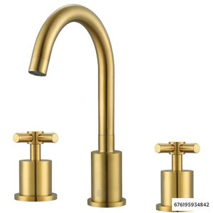 Ancona Prima 3 8 in. Widespread 2-Handle Bathroom Faucet in Brushed Titanium Gold for Sale in Dallas, TX