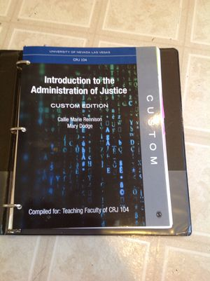 Introduction to the administration of justice Custom edition for Sale in North Las Vegas, NV
