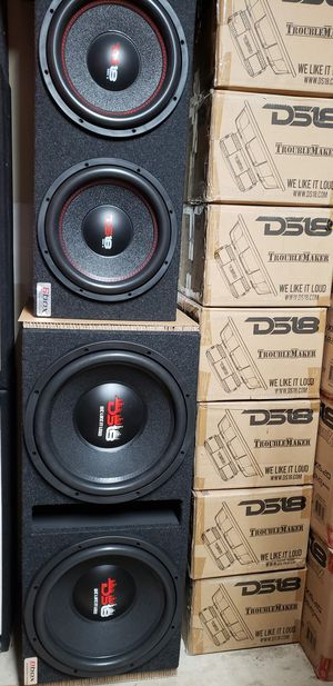 Subwoofer box with subs for Sale in Shrewsbury, MA