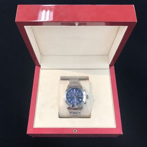 Salvatore Ferragamo (FH6020016) Mens Stainless Band w/ Blue Chrono Face (42mm) + Date in Box for Sale in New Britain, CT