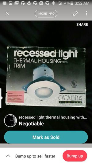 Recessed light fixture for Sale in Pittsburgh, PA