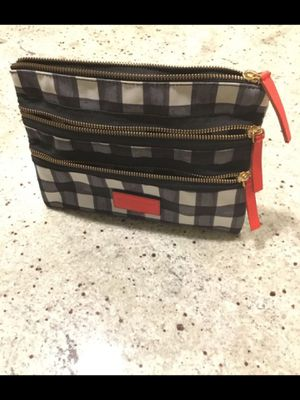 MARC BY MARC JACOBS black and white plaid clutch or cosmetic pouch for Sale in Seattle, WA