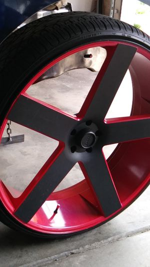 30inc Rims Red&Black for Sale in Charlotte, NC