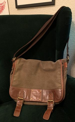 Fossil canvas and leather messenger bag for Sale in Broomfield, CO