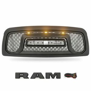 2009-2012 Dodge Ram 1500 Grille Rebel Style with 3 LED Lights With Harness and R-A-M Letters for Sale in Fullerton, CA