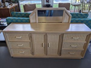 Wicker Dresser and Mirror for Sale in Fort Myers, FL