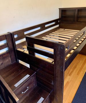 Twin bed frame with storage and bookshelf for Sale in Arcadia, CA
