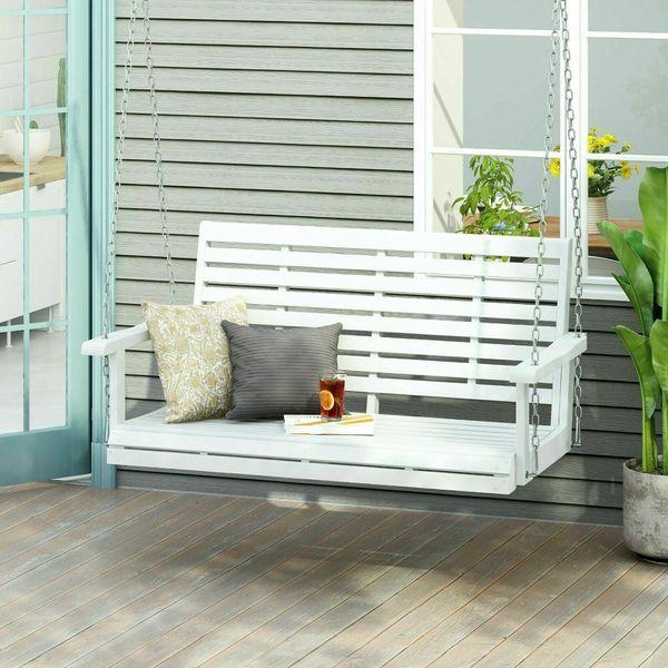 Acacia Wood Porch Swing 🛋