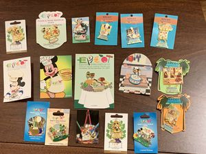 17 DISNEY EPCOT FOOD & WINE FESTIVAL PINS for Sale in Davenport, FL