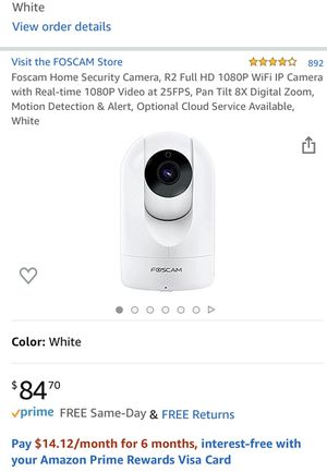 Foscam home security camera - used only for 1 week for Sale in Miami, FL