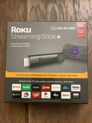 Roku 4K Ultra HD HDR Media Streaming Stick+ Plus Voice Remote BRAND NEW SEALED for Sale in San Diego, CA