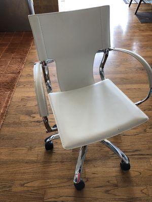 White Modern Leather Like Desk Adjustable Swivel Chair for Sale in Seattle, WA