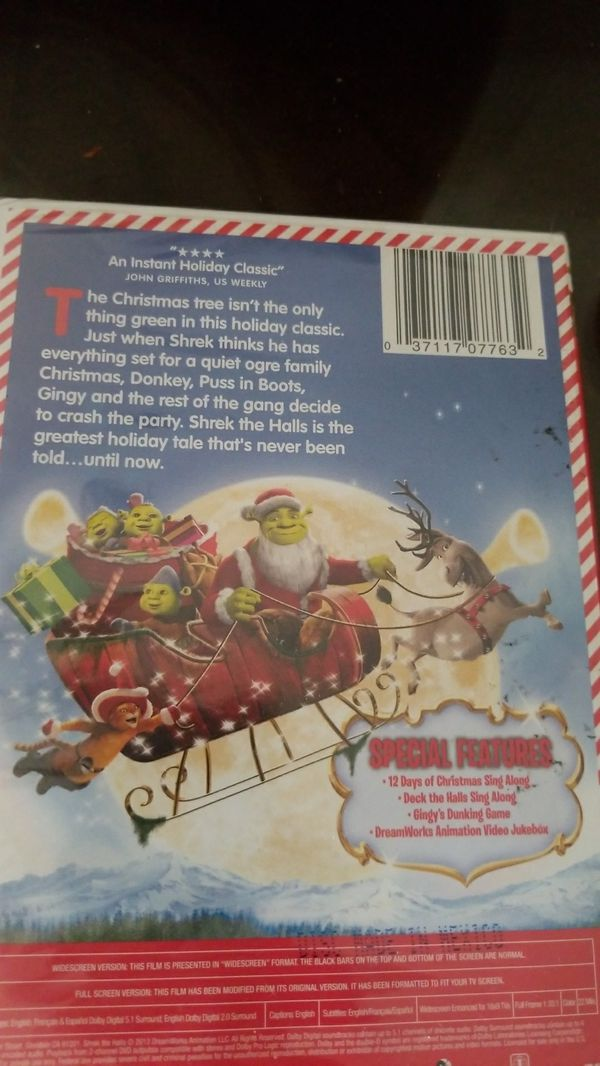 Shrek the halls dvd christmas xmas