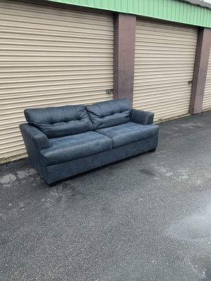 Dark Blue Couch - Local Delivery Available for Sale in Virginia Beach, VA