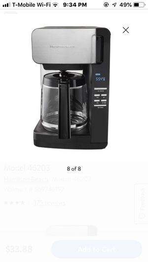 hamilton beach 12 cup programmable coffee maker for Sale in Columbia, SC