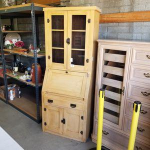 Got chalkpaint? Unique vintage secretary desk cabinet for Sale in Spring Valley, CA