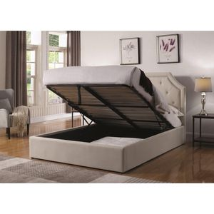 Brand New Hermosa Queen Upholstered Platform Bed with Hydraulic Lift Storage! for Sale in Tallahassee, FL