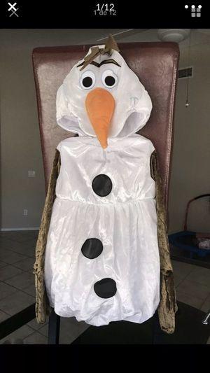 Kids Frozen Olaf Costume Velvet Snowman Size 3-4 Toddler White New for Sale in Avondale, AZ