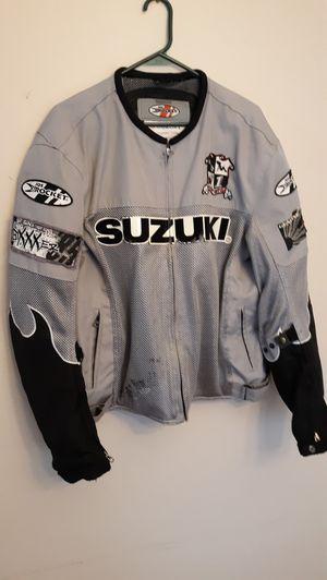Motorcycle biker jacket padded. Suzuki GSXR. Large for Sale in Chicago, IL