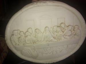 Wall Plate Plaque of The Last Supper Jesus Christ Statue 3D by Vittoria Collection Made in Italy for Sale in Stockton, CA