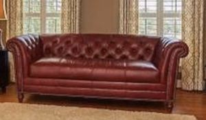 Davidson Red leather high end couch org $6000 for Sale in Washington, DC