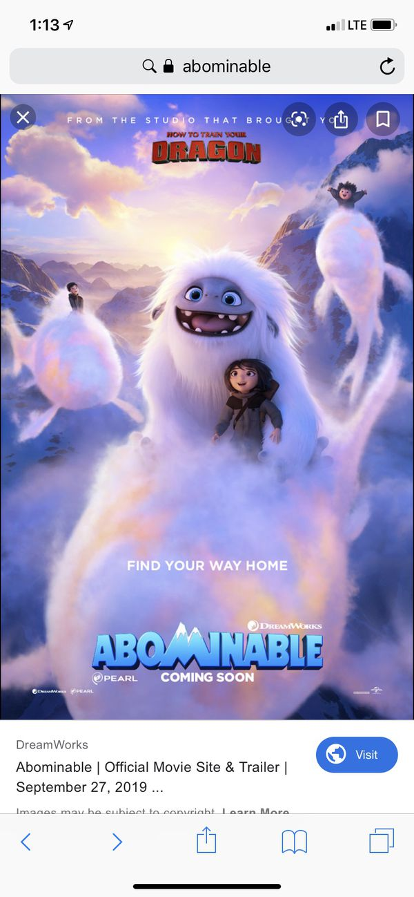 Adominable advance screening passes for 4