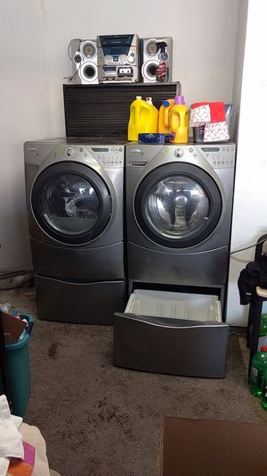 Kenmore Duet washer and gas dryer and Kenmore refrigerator for Sale in Perris, CA