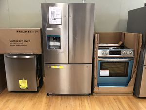 New Frigidaire Kitchen Appliances Package ONLY $2,699.00. Slide in stove - French Door Fridge - DW & MW. 1 Year Manufacturer Warranty for Sale in Boynton Beach, FL
