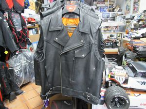 Motorcycle riding leather vest size XL brand new first manufacturing leather brand for Sale in Los Angeles, CA