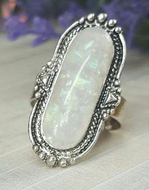 Opal Stone Bohemia Finger Ring, Resizable for Sale in Wichita, KS