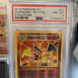 Pokemon XY Evolutions Charizard 11/108 Rare Reverse Holo Card PSA 8 for Sale in East Los Angeles, CA