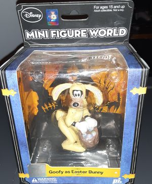 New Disney Mini Figure World by Play Imaginative Goofy as Easter Bunny for Sale in Georgetown, TX