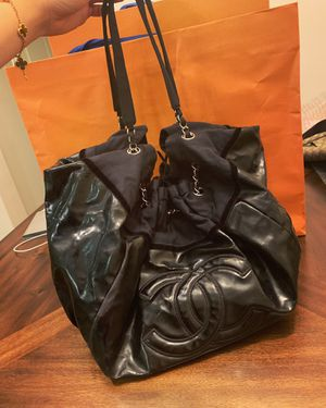 Chanel large black tote handbag Shoulder bag for Sale in Temple City, CA