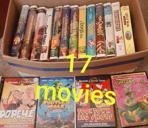 Box of kids movies for Sale in CARPENTERSVLE, IL