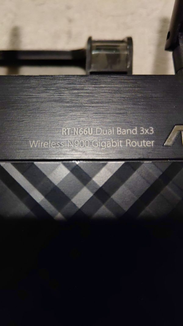 Asus Wireless Gigabit Router Dual Band 2.4 - 5 GHz RT-N66U